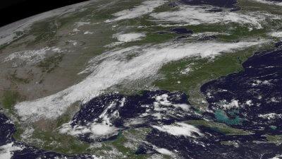 Louisana flooding GOES image
