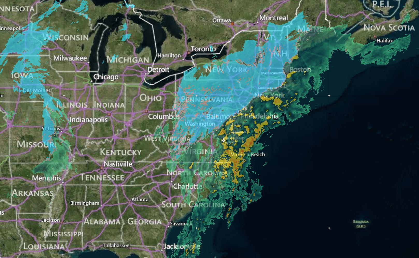 Radar image at 12:20 pm EST, Wednesday November 26, 2014