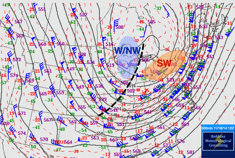 500-hPa data valid 12Z (6 am EST) November 18, 2014.