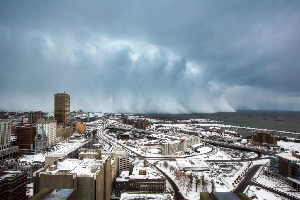 Photo from the November 2014 lake effect snow near Buffalo, New York