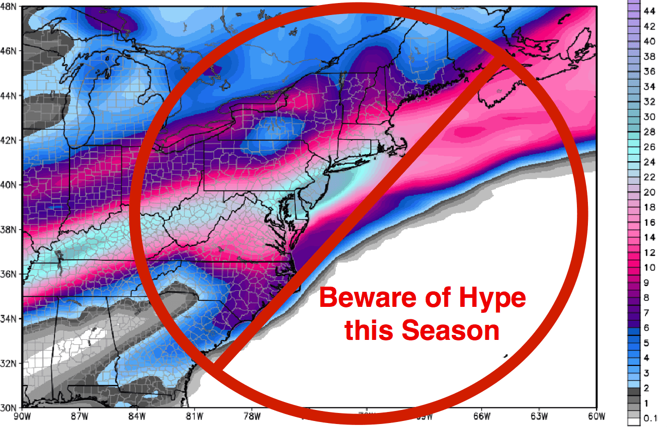 Beware of weather hype this winter. Know your weather source.