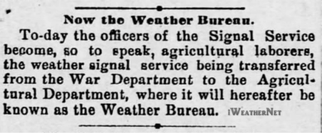 Except from the Harrisburg Telegraph (Harrisburg PA, July 1, 1891)