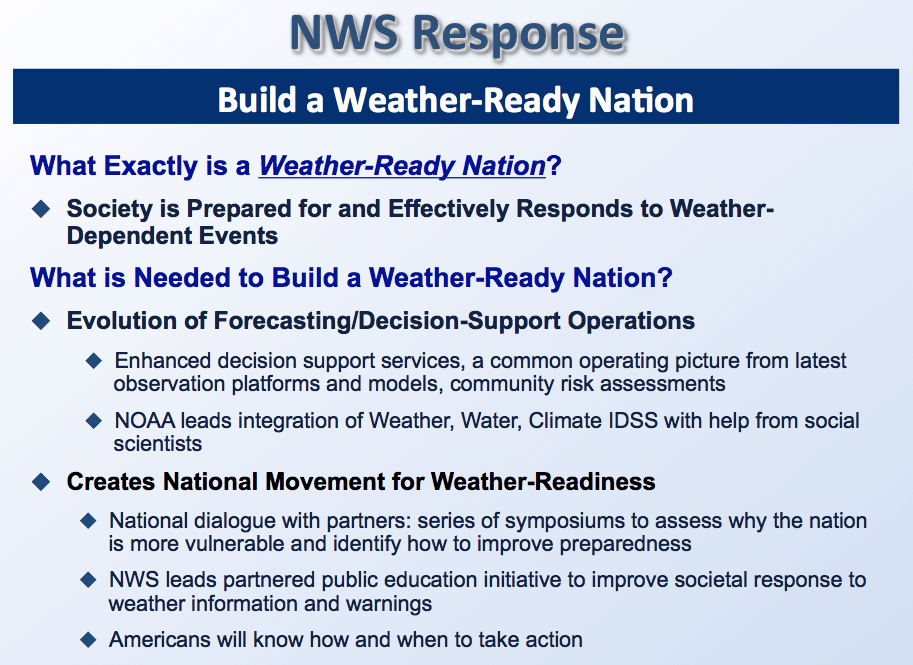 What is the Weather-Ready Nation Initiative? – iWeatherNet