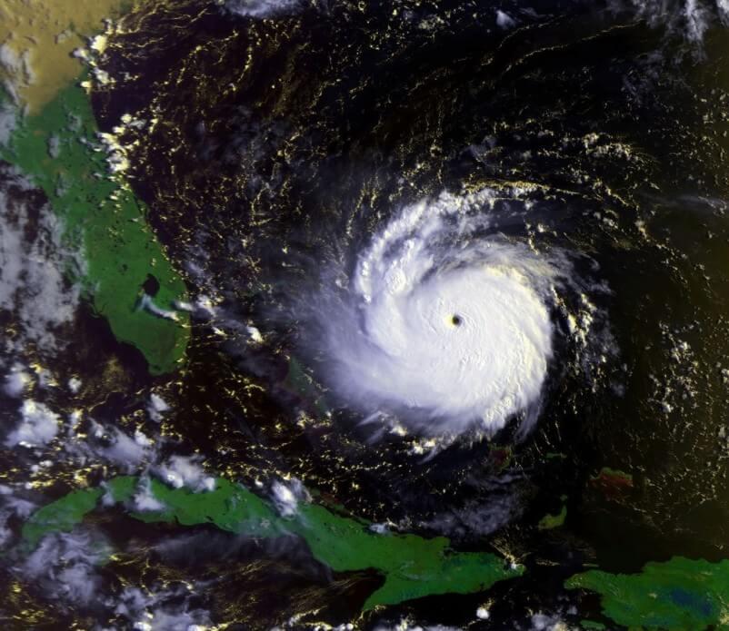 Hurricane Andrew on August 23, 1992 (1230 UTC)