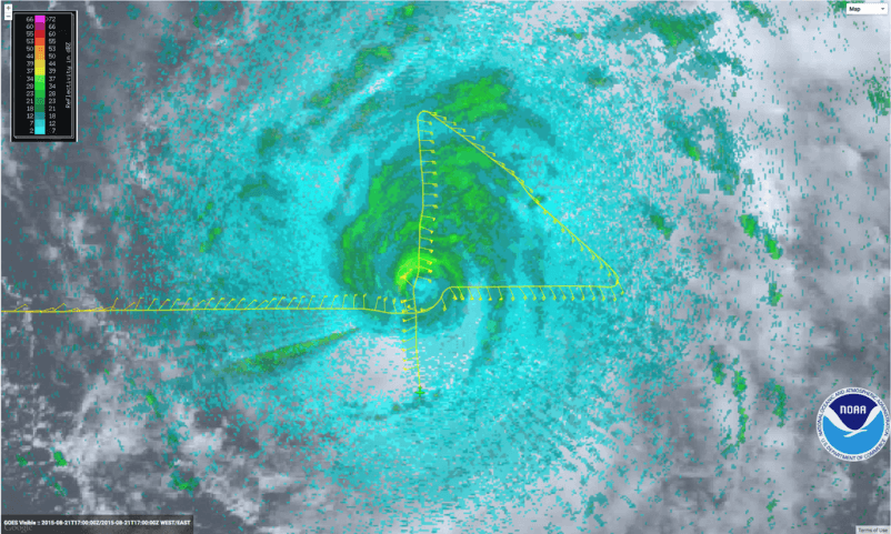 #NOAA43 After Passing Through the eye of Hurricane Danny