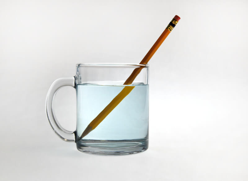 Example of refraction