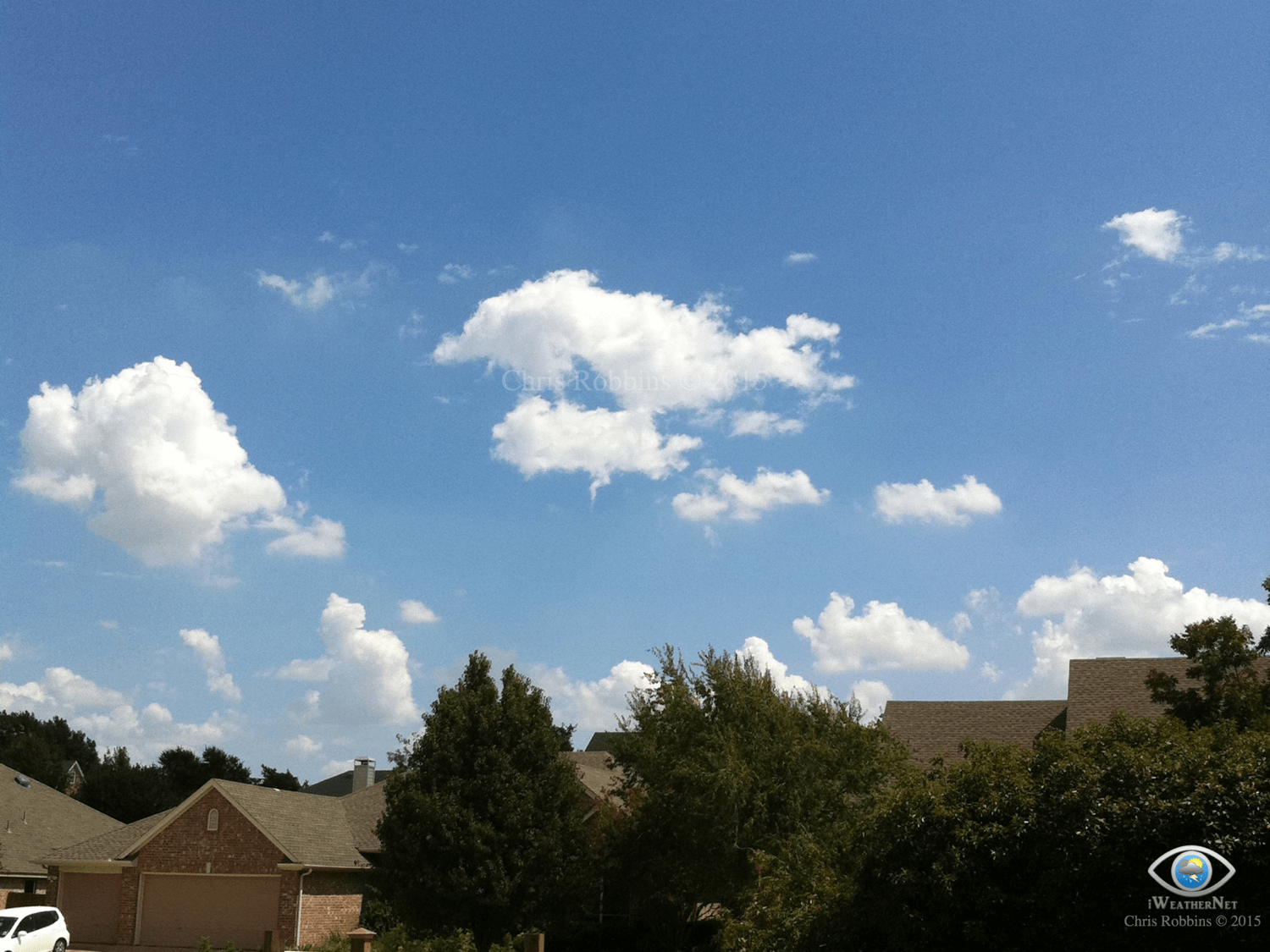 Fair-weather cumulus funnel. I see these quite often when conditions are favorable.