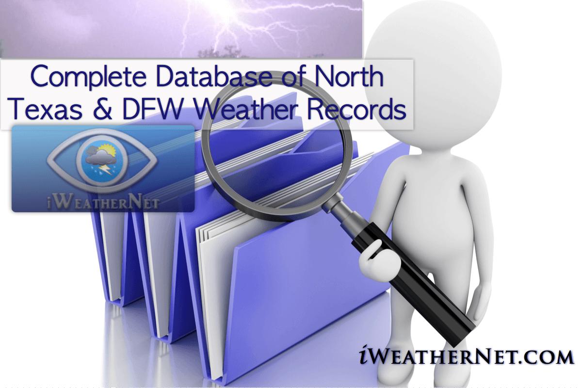 DFW Weather Records Database – iWeatherNet