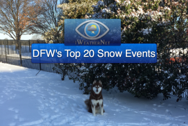 Snow: Dallas/Fort Worth's Top-20 Largest Snowfalls on Record