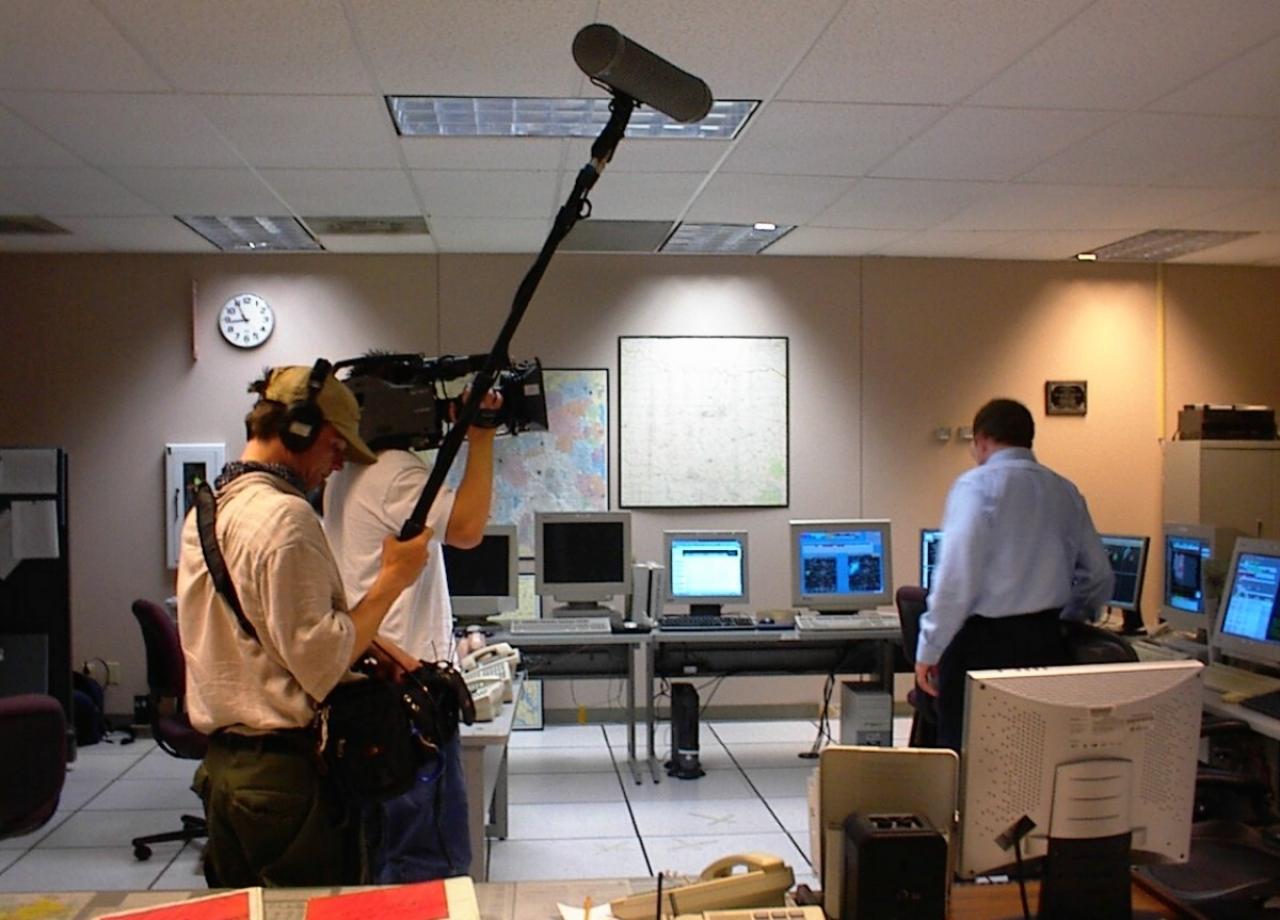 Documentary camera crew.