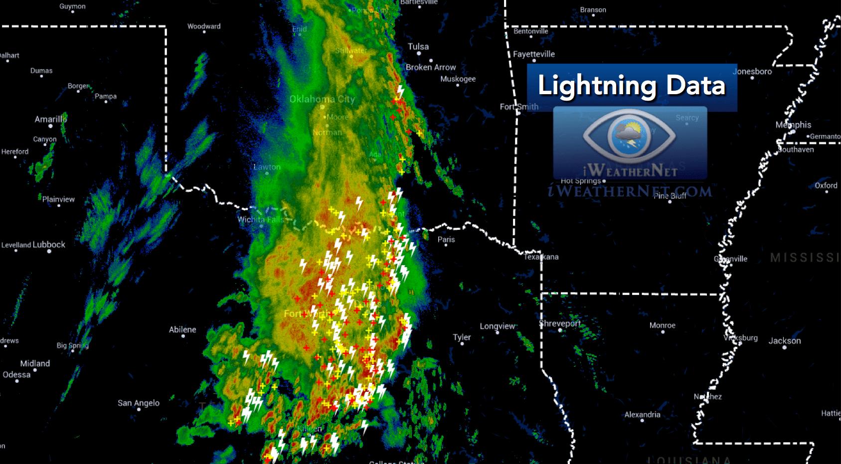 Current Lightning Data Realtime Strikes iWeatherNet