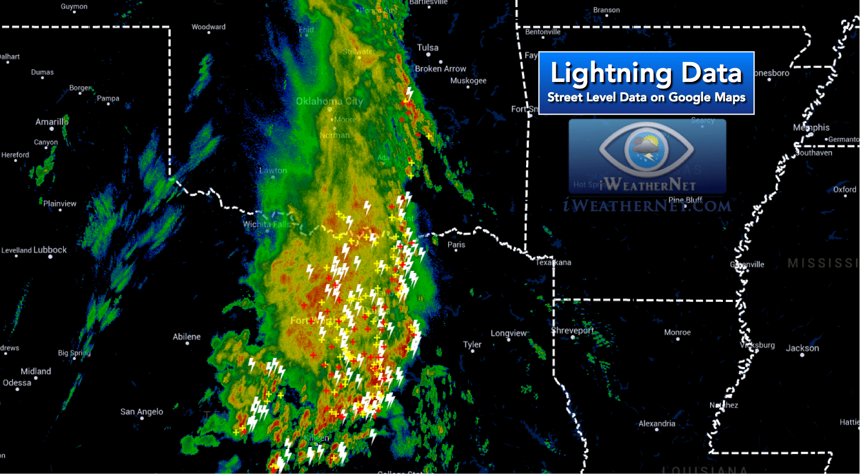 Latest Lightning Strikes On Google Maps Iweathernet - Us-lightning-strike-map