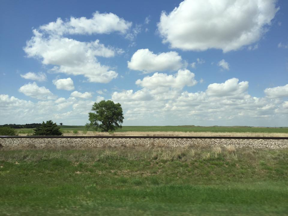 Developed cumulus field in Greensburg, Kansas, on Sunday, May 8th.