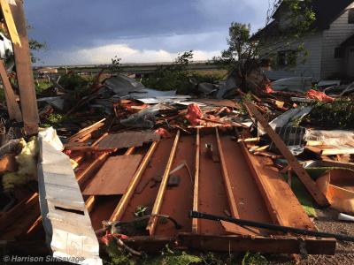 Dodge City trailer damage