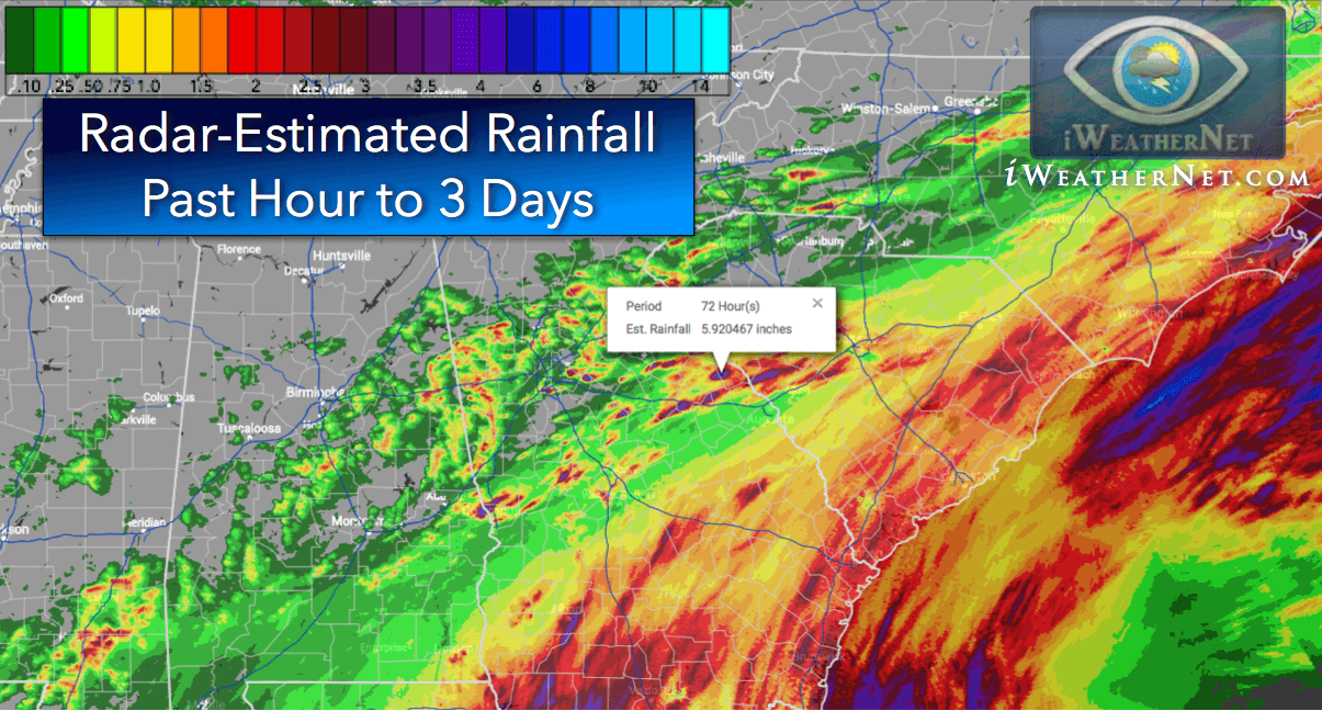 Rainfall Totals Map Rainfall totals for the last 24 hours to 3 days   high resolution