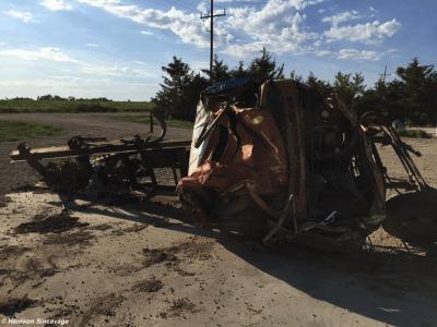 Chapman tornado truck damage