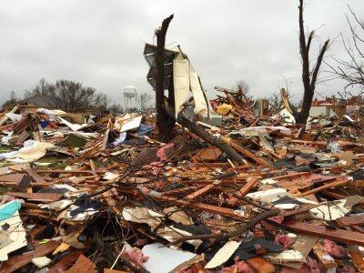 Rowlett tornado damage