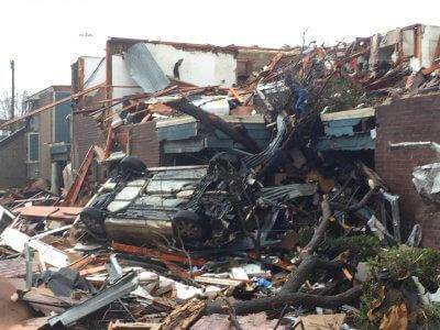 Garland tornado damage