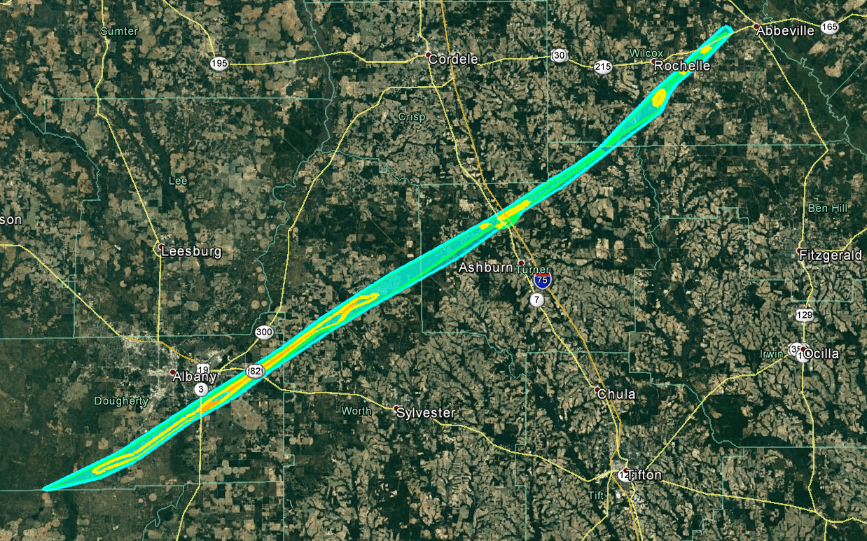 Surveyed Tornado Track Of The 70 73 Mile Long Track Ef 3 Tornado That Occurred On January 22nd 2017 Image Credit National Weather Service Offices