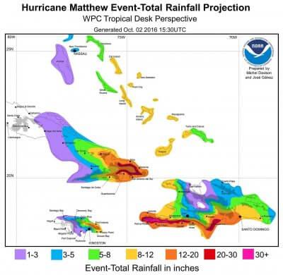Matthew-Caribbean-Rainfall-Forecast