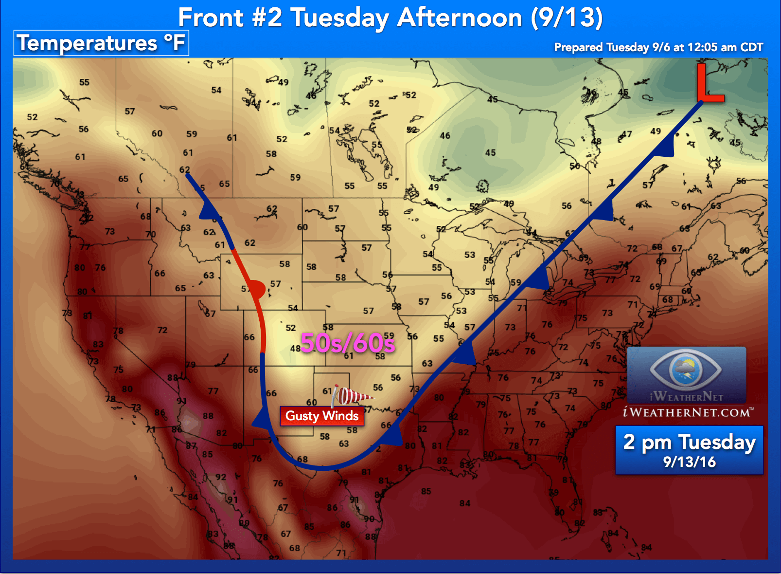 Map Us Fronts Bobxtk Meteorology Weather Fronts Extended Weather Usa Map Temperature