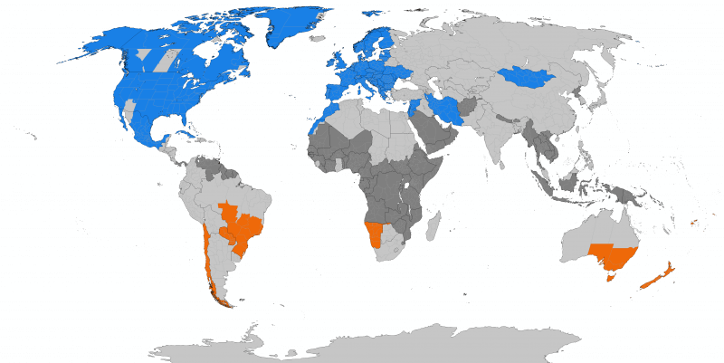 Countries that participate in DST. Credit: TimeZonesBoy - Own work, CC BY-SA 3.0.